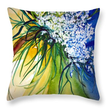 Throw Pillow featuring the painting Lace by Lil Taylor