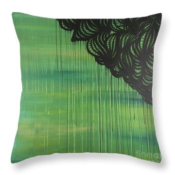 Lace Throw Pillow by Nia Jacob