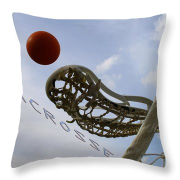 Lacrosse Is The Word 2 Throw Pillow