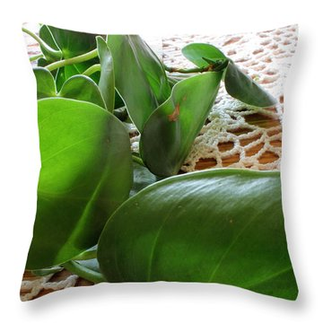 Lacy Plant Throw Pillow