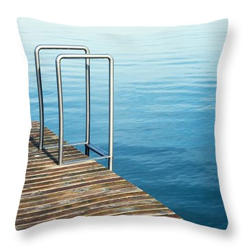 Throw Pillow featuring the photograph Ladder by Chevy Fleet