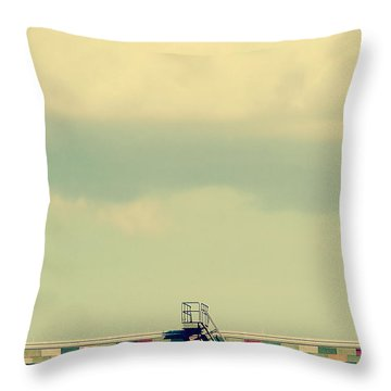 Ladder To Nowhere  Throw Pillow by Trish Mistric
