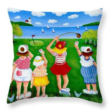 Ladies League Door County Throw Pillow