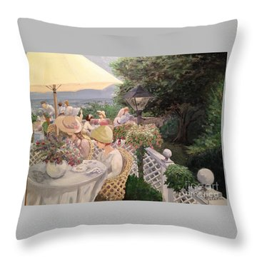 Ladies Luncheon Throw Pillow