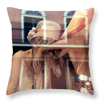 Throw Pillow featuring the photograph Ladies Of The French Quarter by Nadalyn Larsen