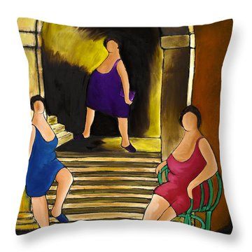 Ladies Of The Night Throw Pillow by William Cain