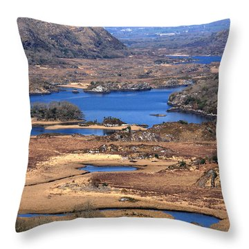 Ladies View Killarney National Park Throw Pillow