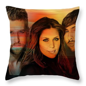 Lady Antebellum Throw Pillow by Marvin Blaine