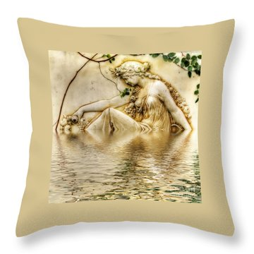 Lady Bathing 2 Throw Pillow by Kaye Menner