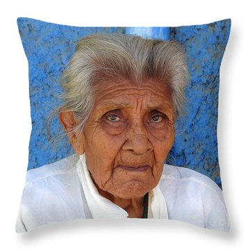 Lady Blue Throw Pillow by Lew Davis