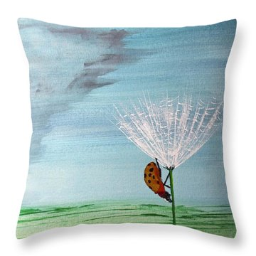Throw Pillow featuring the painting Lady Bug by Jack G  Brauer