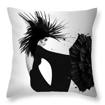 Lady D 2 Throw Pillow by Mark Ashkenazi