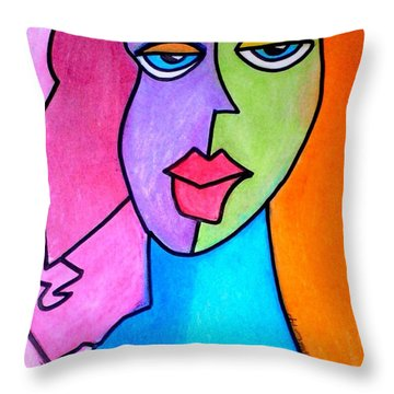 Red Head Pop  Throw Pillow by Kelly Turner