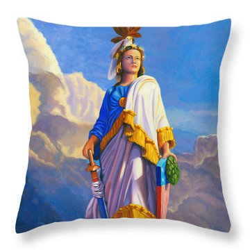 Lady Freedom Throw Pillow by Steve Simon