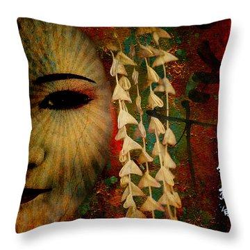 Lady Geisha Throw Pillow