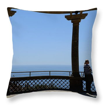 Lady In Monaco Throw Pillow