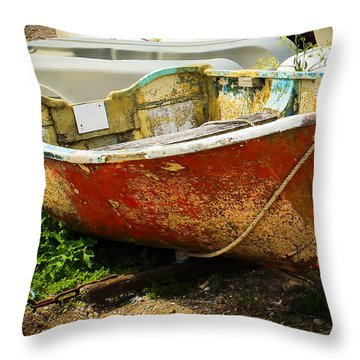 Lady In Red Throw Pillow by Rene Triay Photography