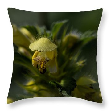 Lady In Yellow Dress Throw Pillow