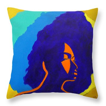 Lady Indigo Throw Pillow