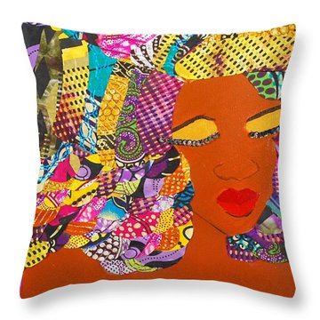 Lady J Throw Pillow