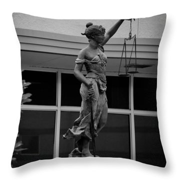 Lady Justice Throw Pillow