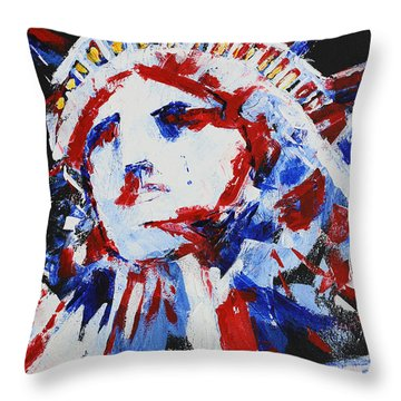 Lady Liberty  Throw Pillow by Patricia Olson