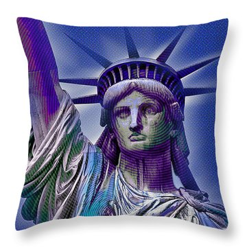 Lady Liberty Throw Pillow by Tony Rubino