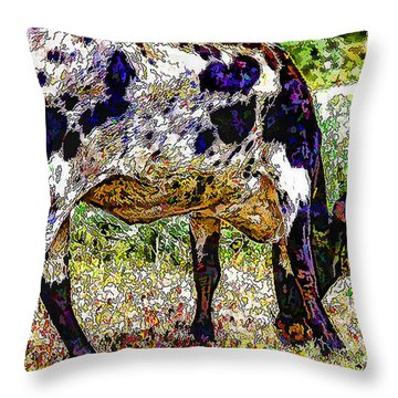 Lady Longhorn All Decked Out Throw Pillow