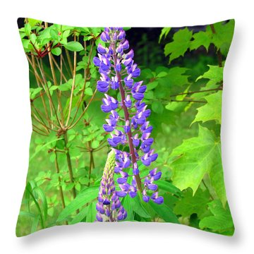 Lady Lupine Throw Pillow