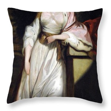 Lady Mary Isabella Somerset Throw Pillow by Robert Smirke