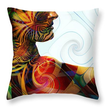 Lady Masquerade Throw Pillow