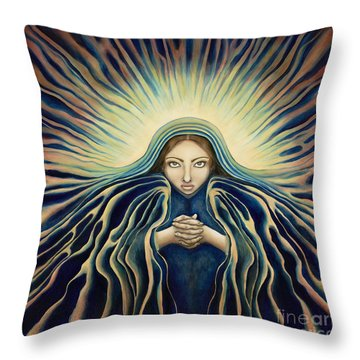Lady Of Light Throw Pillow