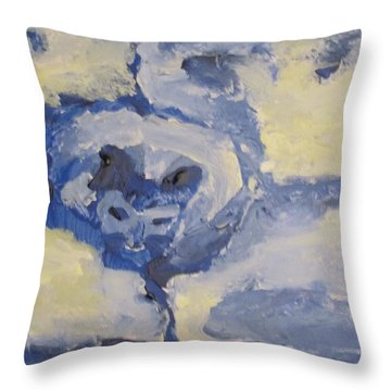 Lady On The Coach  Throw Pillow