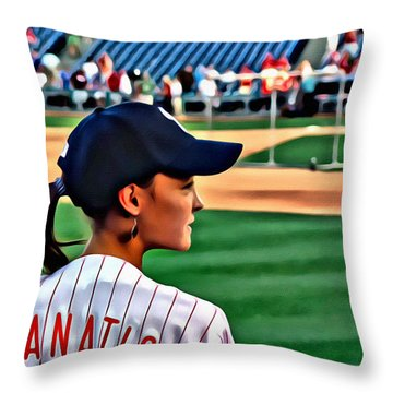 Lady Phanatic Throw Pillow by Alice Gipson