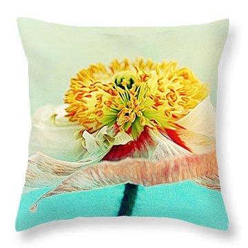 Lady Poppy 2 Throw Pillow