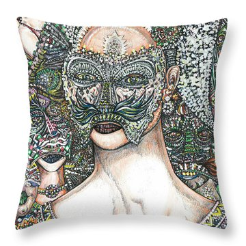 Lady Regina And Friends Throw Pillow