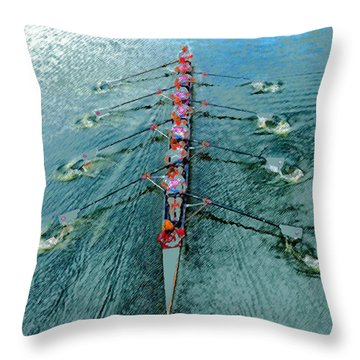 Lady Scullers Throw Pillow