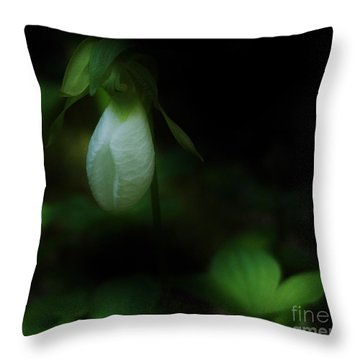 Lady Slipper 1 Throw Pillow