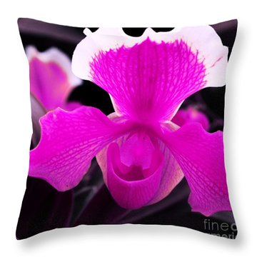 Lady Slippers Throw Pillow by Kathleen Struckle