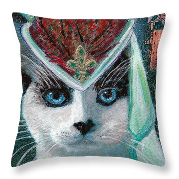 Lady Snowshoe Throw Pillow