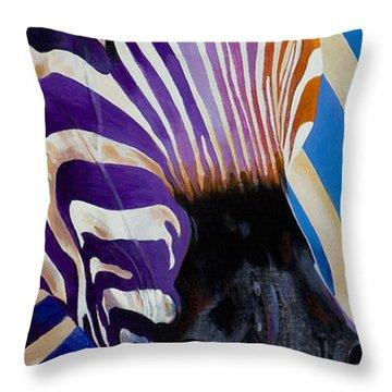 Lady Stripes Throw Pillow