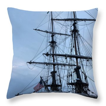 Lady Washington's Masts Throw Pillow by Heidi Smith