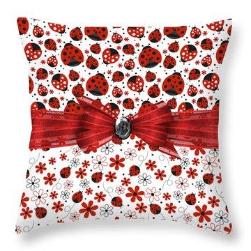 Ladybug Magic Throw Pillow