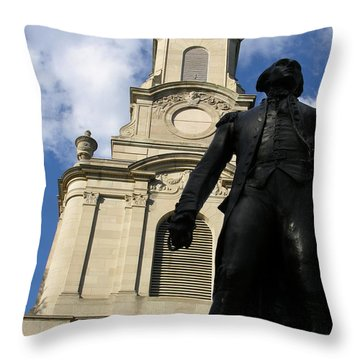 Lafayette College Easton Pa Throw Pillow by Jacqueline M Lewis