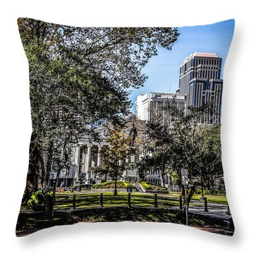 Lafayette Square In Nola Throw Pillow