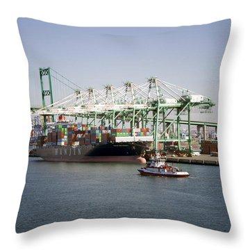 Lafd Fire Boat 2 San Pedro Ca 03 Throw Pillow