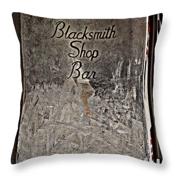Lafitte's Blacksmith Shop Bar Throw Pillow