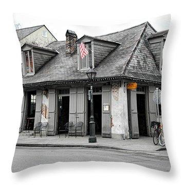 Lafitte's Blacksmith Shop Throw Pillow by Lynn Jordan