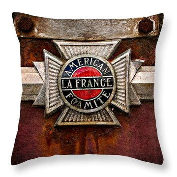Lafrance Badge Throw Pillow by Mary Jo Allen