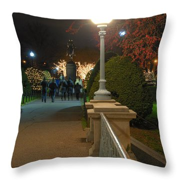 Lagoon Bridge Lights Throw Pillow by Joann Vitali